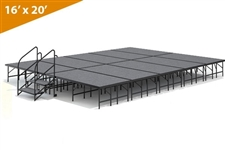 "16' x 20' - 24"" Single Height Stage Kit ( Carpet Finish )"