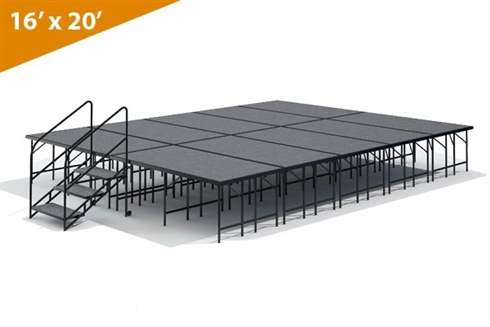 "16' x 20' - 32"" Single Height Stage Kit ( Carpet Finish )"