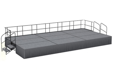 12' x 24' Carpet Finished Dual Height Executive Stage Kit
