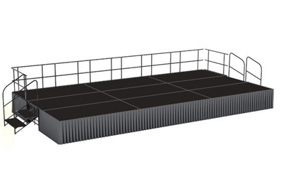 12' x 24' Poly Finished Dual Height Executive Stage Kit