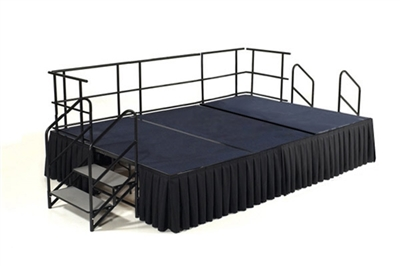 12' x 8' Carpet Finished Dual Height Executive Stage Kit