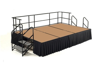 12' x 8' Hardboard Dual Height Finished Executive Stage Kit
