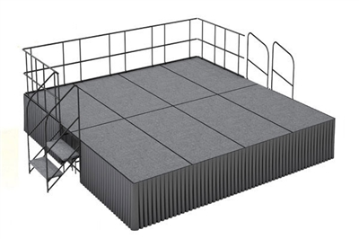 16' x 16' Carpet Finished Dual Height Executive Stage Kit
