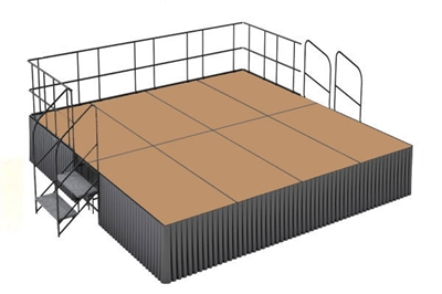 16' x 16' Hardboard Dual Height Executive Stage Kit
