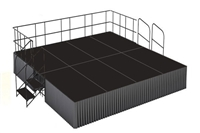 16' x 16' Poly Finished Dual Height Executive Stage Kit