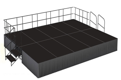 16' x 20' Poly Finished Dual Height Executive Stage Kit