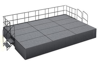 16' x 24' Carpet Finished Dual Height Executive Stage Kit