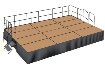16' x 24' Hardboard Dual Height Executive Stage Kit