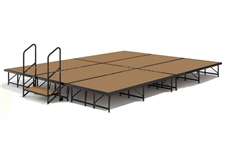 12' x 16' Hardboard Dual Height Economy Executive Stage Kit