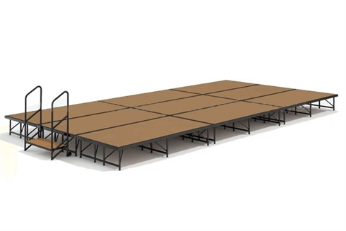 12' x 24' Hardboard Dual Height Economy Executive Stage Kit