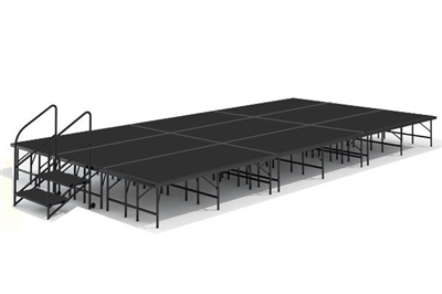 12' x 24' Poly Finished Dual Height Economy Executive Stage Kit