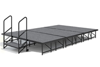 12' x 8' Carpet Finished Dual Height Economy Executive Stage Kit