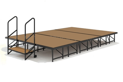 12' x 8' Hardboard Dual Height Finished Economy Executive Stage Kit