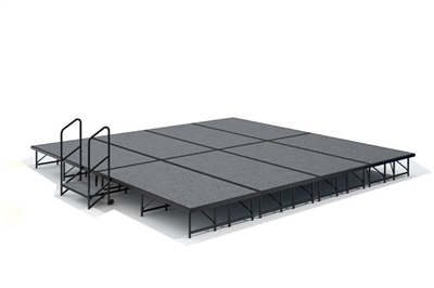 16' x 16' Carpet Finished Dual Height Economy Executive Stage Kit