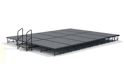 16' x 20' Carpet Finished Dual Height Economy Executive Stage Kit
