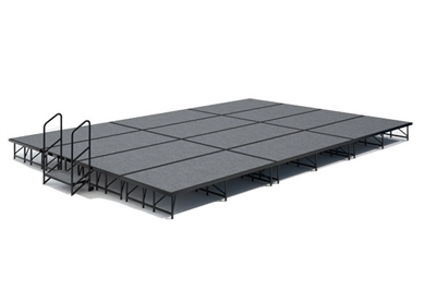 16' x 24' Carpet Finished Dual Height Economy Executive Stage Kit