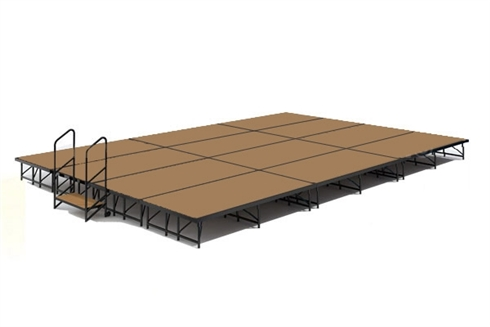 16' x 24' Hardboard Dual Height Economy Executive Stage Kit