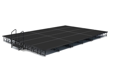 16' x 24' Poly Finished Dual Height Economy Executive Stage Kit