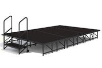 Dual Height Poly finished 8' x 16' Economy Executive Stage Kits