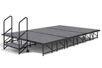 Carpet finished 8' x 16' Dual Height Economy Executive Stage Kits
