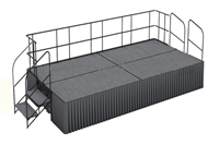 Carpet finished 8' x 16' Executive Portable Stage Kits