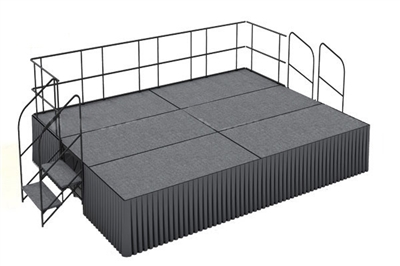 12' x 16' Carpet Finished Executive Portable Stage Kit