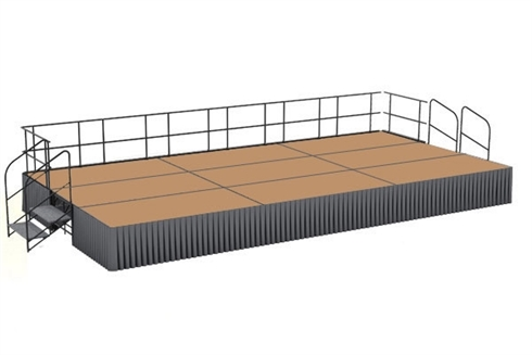 12' x 24' Hardboard Finished Executive Portable Stage Kit