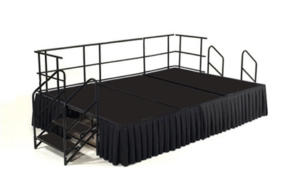 12' x 8' Poly Finished Executive Portable Portable Stage Kit