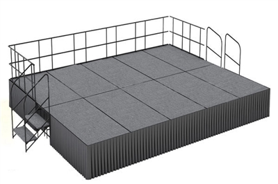 16' x 20' Carpet Finished Executive Portable  Stage Kit