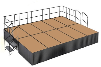 16' x 20' Hardboard Finished Executive Portable Stage Kit