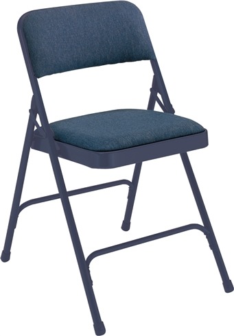 Premium Padded Fabric-Seat Executive Folding Chairs - Blue
