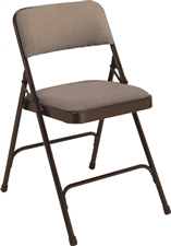 Premium Padded Fabric-Seat Executive Folding Chairs - Brown