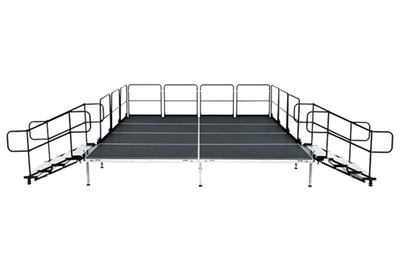 "12' X 16' Fast Pro Elite Series Stage Kit - Height Adjustable 28"" to 44"" high"