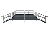 "12' X 24' Fast Pro Elite Series Stage Kit - Height Adjustable 18"" to 28"" high"