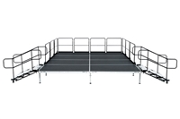 "12' X 8' ' Fast Pro Elite Series Stage Kit - Height Adjustable 28"" to 44"" high"