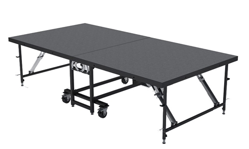 "4FT X 8FT - 16"" Mobile Folding Portable Stage ( Carpet Finish )"