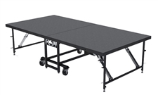 "4FT X 8FT - 24"" Mobile Folding Portable Stage ( Carpet Finish )"