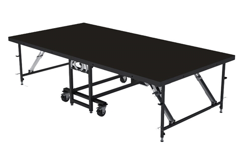 "4FT X 8FT - 24"" Mobile Folding Portable Stage ( Industrial Finish )"