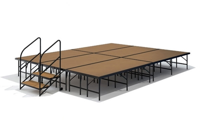 "12' x 16' - 24"" Economy Executive Portable Stage Kit (Hardboard Finish)"