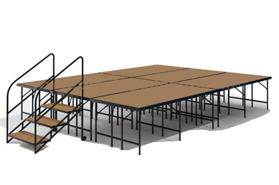 "12' x 16' - 32"" Economy Executive Portable Stage Kit (Hardboard Finish)"