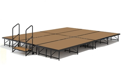 "12' x 16' - 8"" Economy Executive Portable Stage Kit (Hardboard Finish)"
