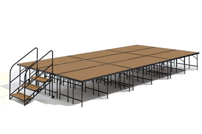 "12' x 24' - 32"" Economy Executive Portable Stage Kit (Hardboard Finish)"