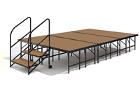 "12' x 8' - 24"" Economy Executive Stage Kit (Hardboard Finish)"