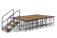 "12' x 8' - 32"" Economy Executive Stage Kit (Hardboard Finish)"