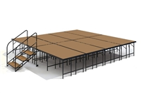 "16' x 16' - 32"" Economy Executive Stage Kit (Hardboard Finish)"