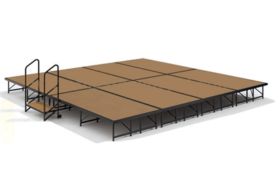 "16' x 16' - 8"" Economy Executive Stage Kit (Hardboard Finish)"