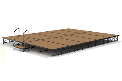"16' x 20' - 16"" Economy Executive Portable Stage Kit (Hardboard Finish)"