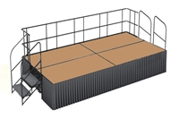 Hardboard finished 8' x 16' Executive Portable Stage Kits