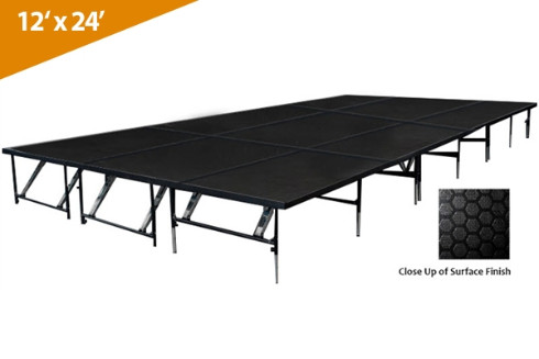 12' x 24' Dual Height Stage Kit ( Industrial  Finish)