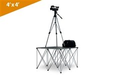 "Single 4'X4' Duraflex Camera Platform With 32"" Riser (Call for shipping before ordering)"